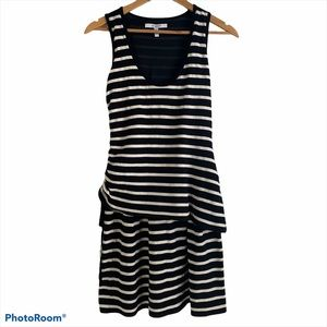 10 Crosby Derek Lam Black & White Striped Dress